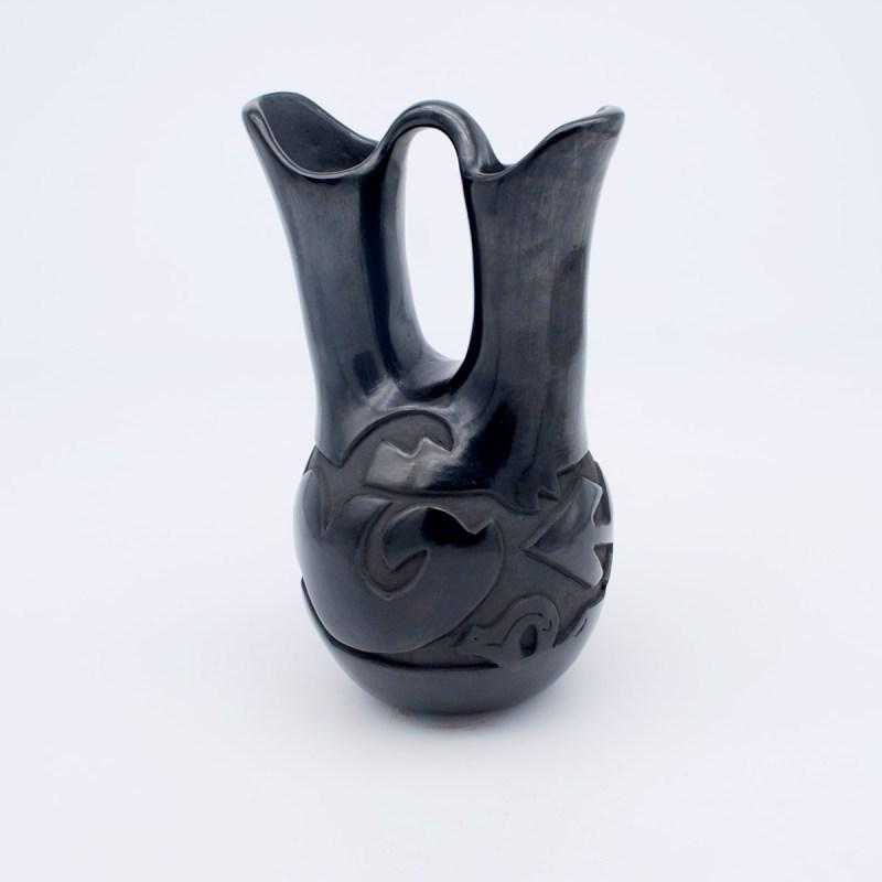 Sharon Naranjo Garcia-Santa Clara Pueblo-Bear-Avanyu-Wedding Vase-Chimayo Trading del Norte