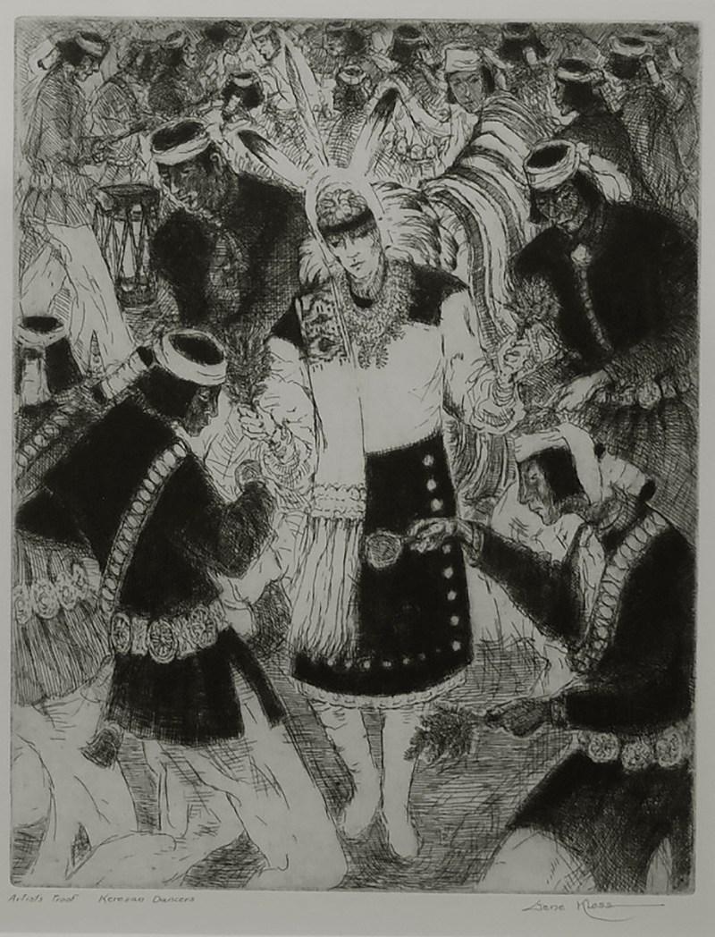Gene Kloss-Chimayo Trading del Norte-Original Print