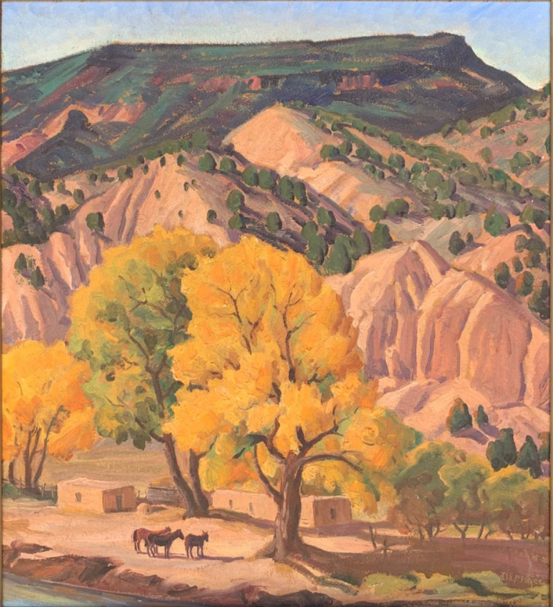 Ila McAfee-Chimayo Trading del Norte-Paintings-Historic