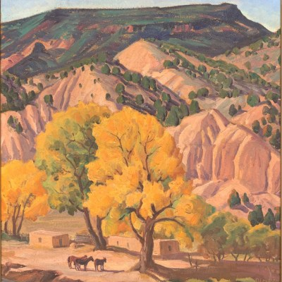 Ila McAfee-Chimayo Trading del Norte-Paintings-Historic