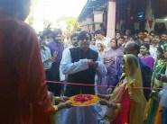 Shashi, the minister, arrives