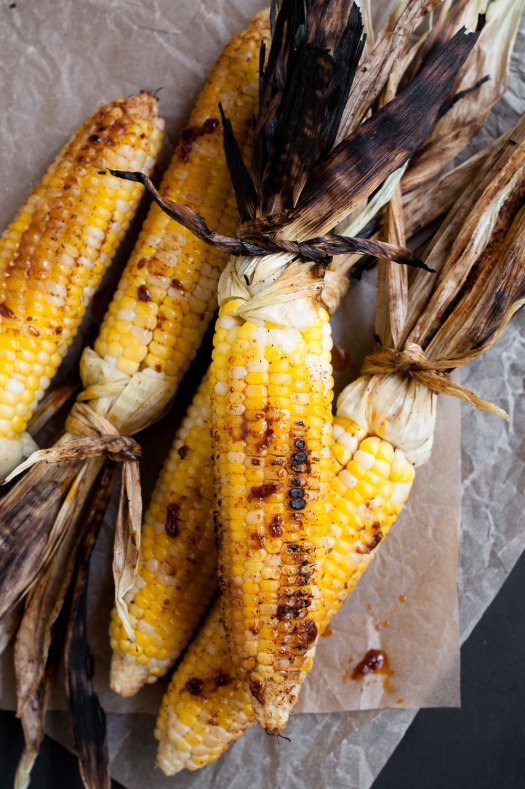 Grilled Corn with Harissa & Honey | Minimally Invasive