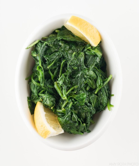 Dorie Greenspan's Steamed Spinach | Amy Roth Photo