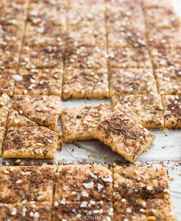 Gluten-Free, Primal Za'atar Crackers Side | Amy Roth Photo