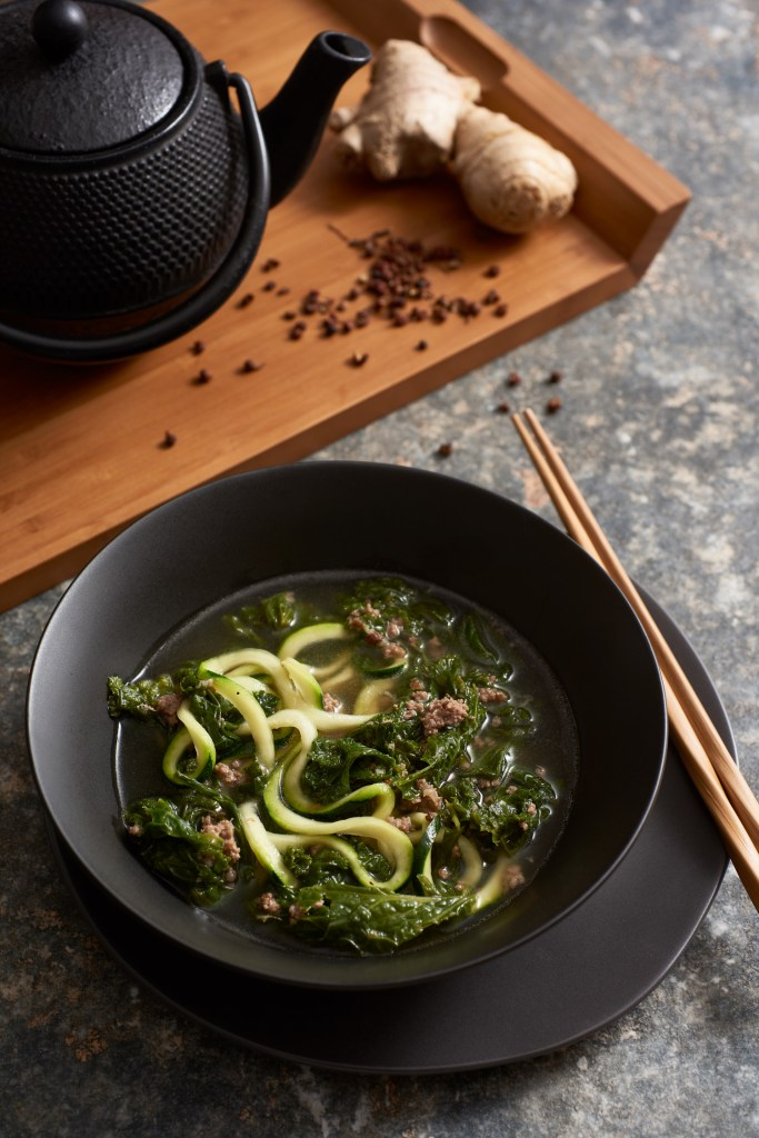 Bon Appetit's Spicy Pork with Mustard Greens Soup