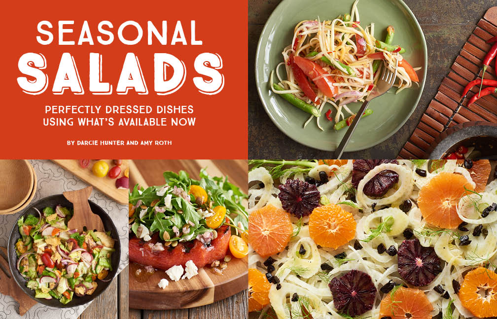 Seasonal Salads mini e-cookbook by Darcie Hunter and Amy Roth.