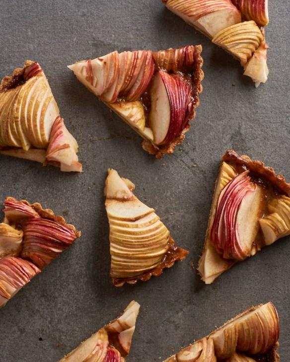 Slices of Salted Caramel Apple Tart