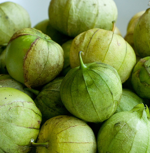 No, seriously. I could not be happier with these two pictures. Aka tomatillo close-up.
