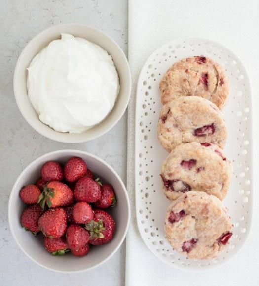 Gluten-Free Strawberries & Cream Biscuits | Minimally Invasive