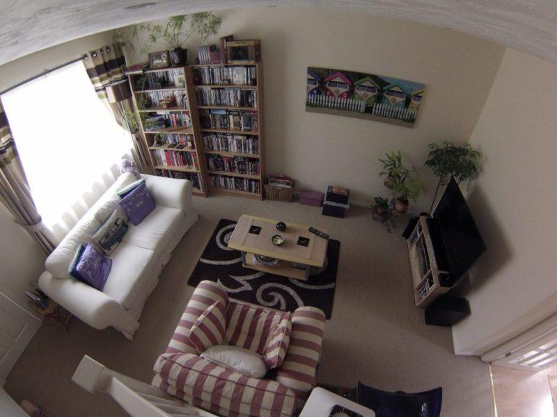 Living room birds eye view