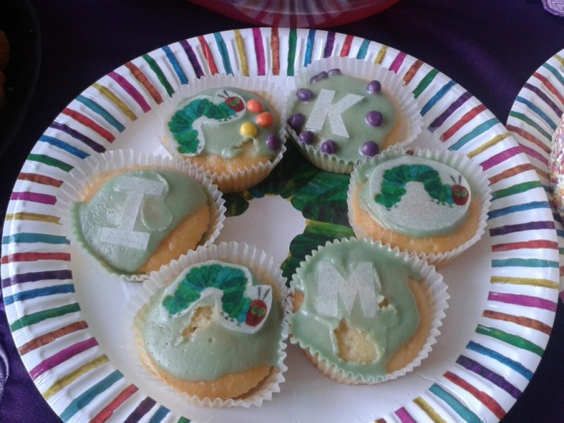 The Very Hungry Caterpillar cupcakes