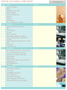 Housecleaningchecklist