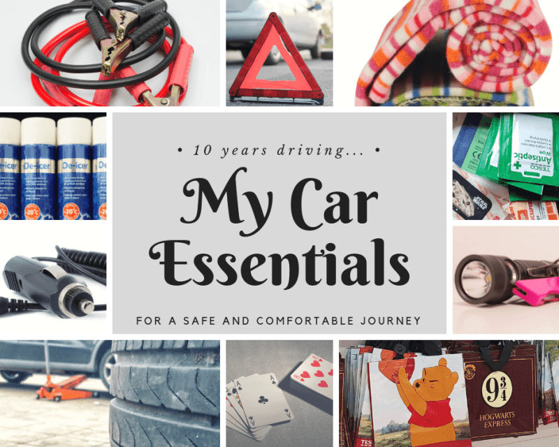10 years driving: My car essentials