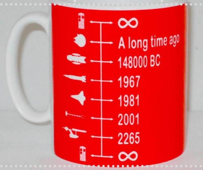 Geeky Gift ideas : Spaceship timeline mug