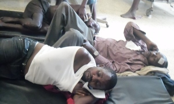 Casualties of the Kampala Coaches bus accident at Mbarara Referral Hospital (FILE PHOT: Joshua Nahamya/ChimpReports)