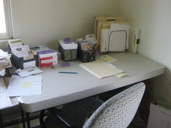 jackie's desk