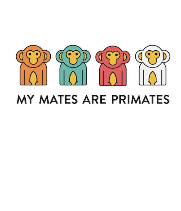My Mates are Primates (horizontal)