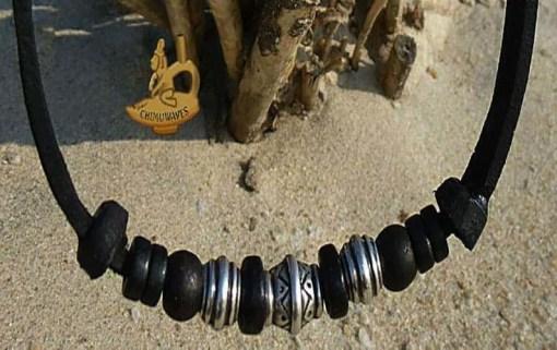 Herrenkette Surferkette Edelstahlperlen Damenkette
