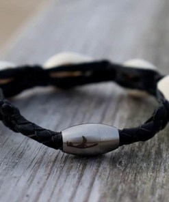 Muschel Armband Sylter Lederarmband