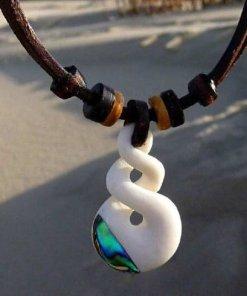 Surferkette Twist Freundschaft Leder-Halskette