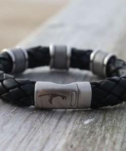 Lederarmband Herrenarmband 10mm Männerarmband..