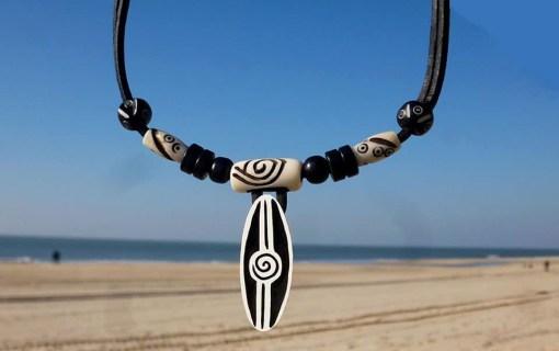 Surferkette Lederhalskette Collar Surfista