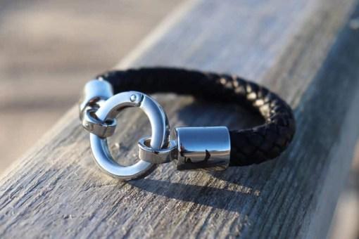 Boloband 10mm Ringverschluss Lederarmband