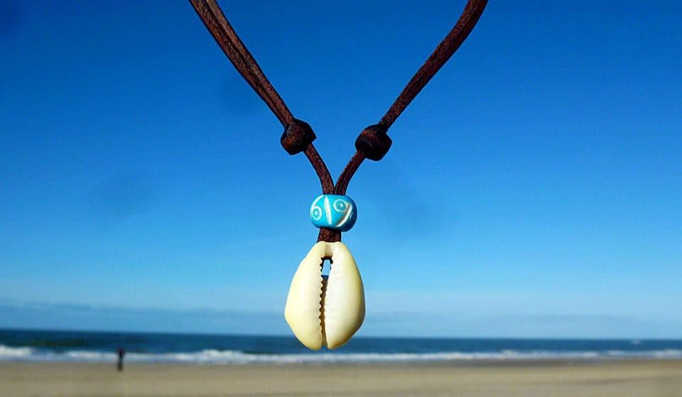 Einstellbar Muschelkette Halskette Armband Set Kauri Kaurimuschel Strand Muschel