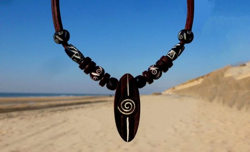 Surferkette Kitesurf Halskette Lederkette