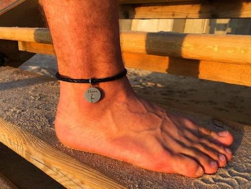 Fußkette Sylt Leder Fußkettchen
