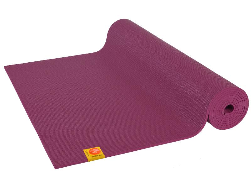 tapis de yoga non toxiques 183cm x 61cm x 4 5mm prune