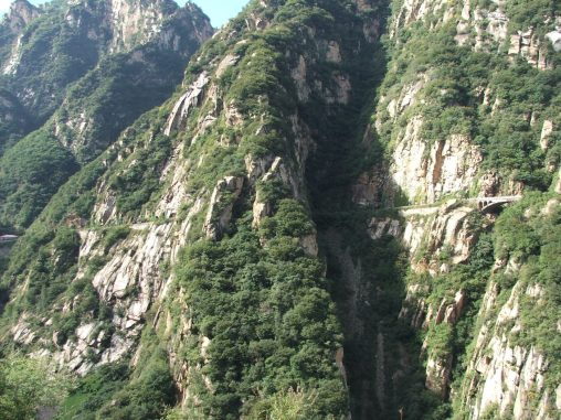 Road in the Bai River Canyon