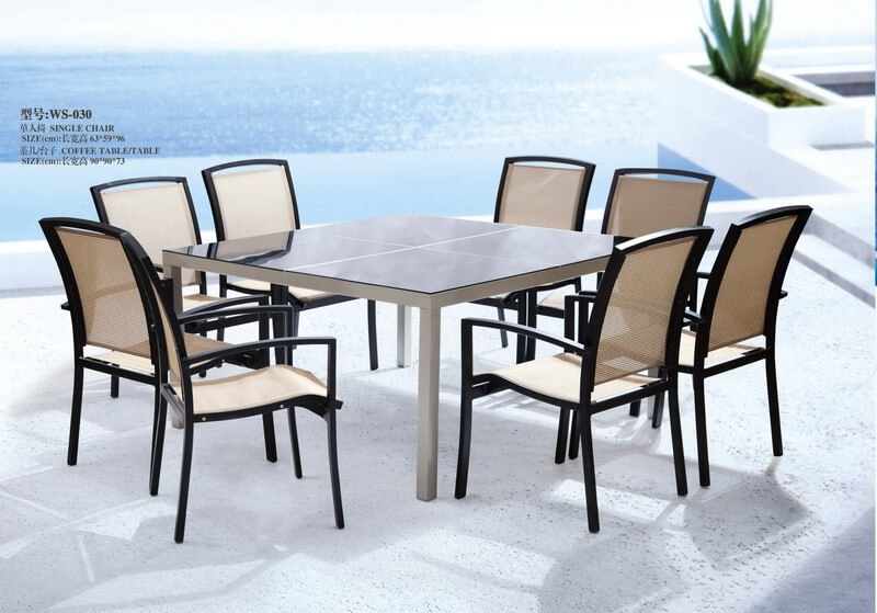 outdoor square patio table and chairs