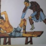 images of Torture punishments inflicted on adulteresses in ancient China