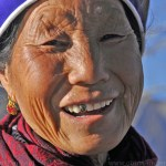 Heqing of the Bai people of Yunnan Dali - old Bai woman