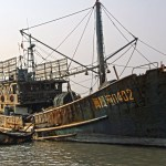 Three small harbours in China