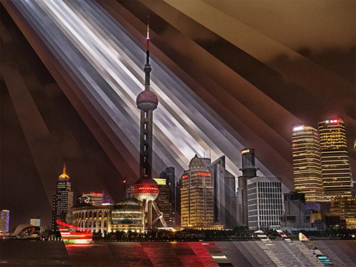 Fong Qiwei mesmerizing Shanghai timelapse gifs
