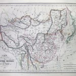 Carte de L'Empire Chinois de Du Japon 1836.