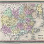 1853 Mitchell Map of China