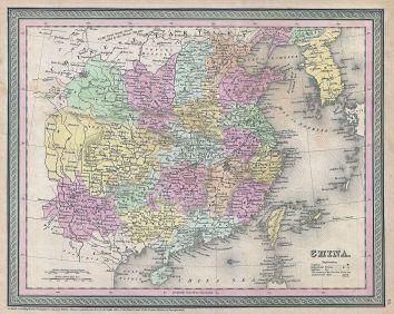 1853 Mitchell Map of China