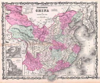 1862 Johnson Map of China