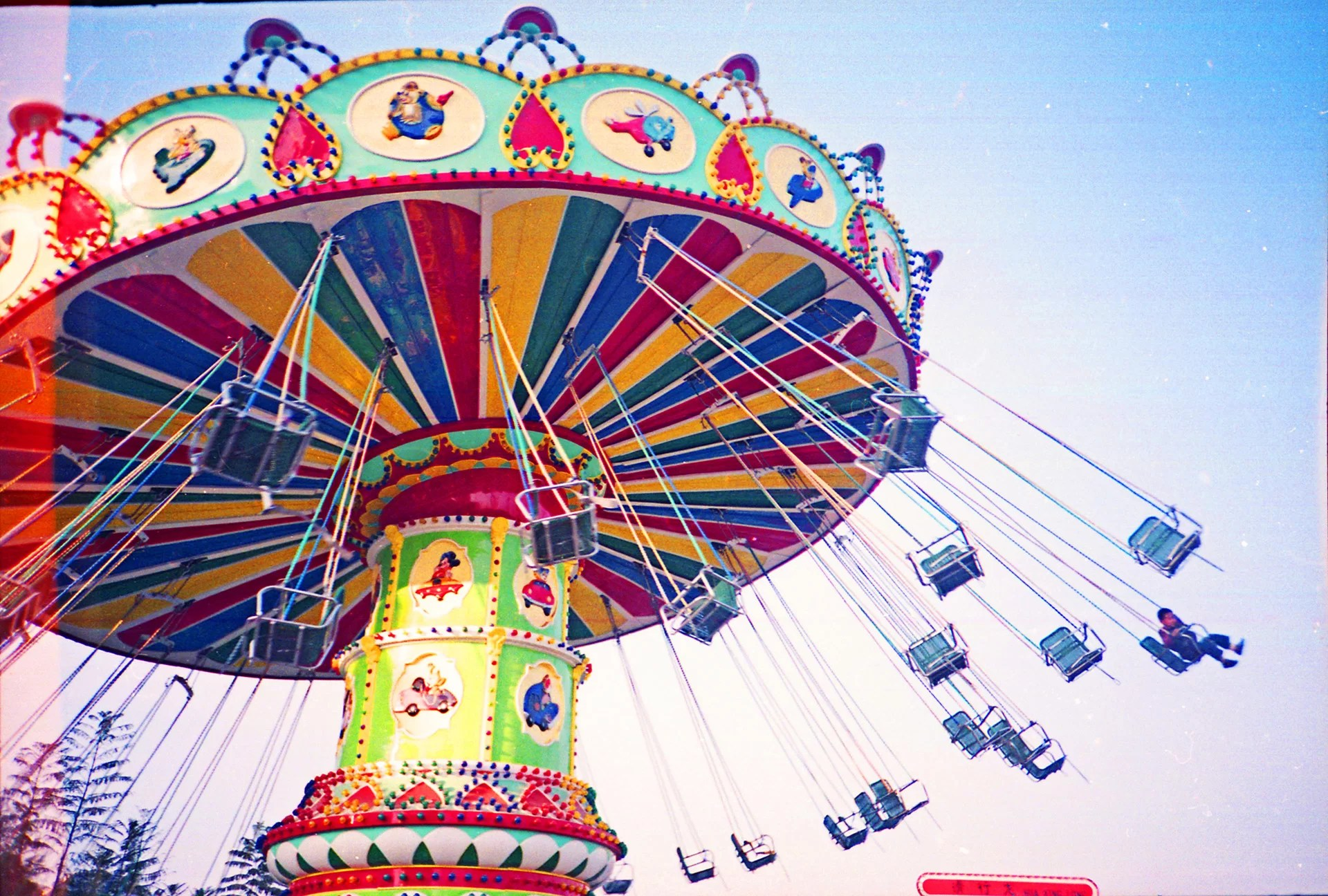 light-leaks-double-exposures-Swing ride China