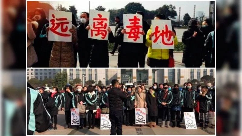 Food poisoning protest in China