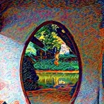 deepdream Chinese door