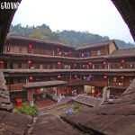 Ancient Earthen Castles in Tulou, Fujian - teahouse