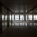 An empty area is seen inside of the Entrepreneurship and Innovation building in Tianjin