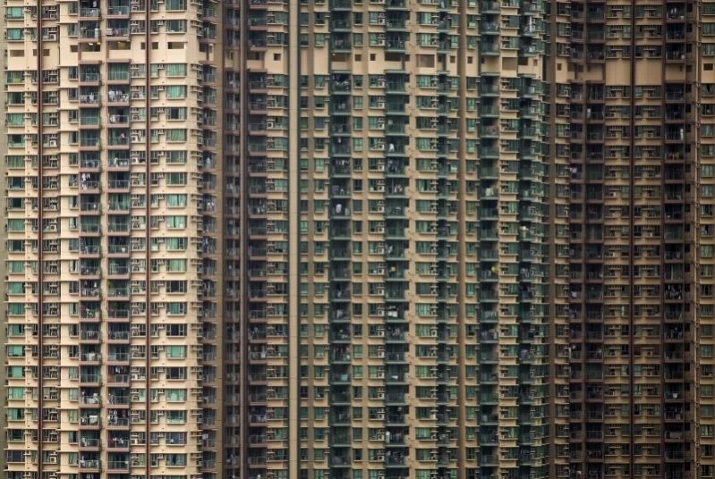 Private housing blocks are seen in Hong Kong, China