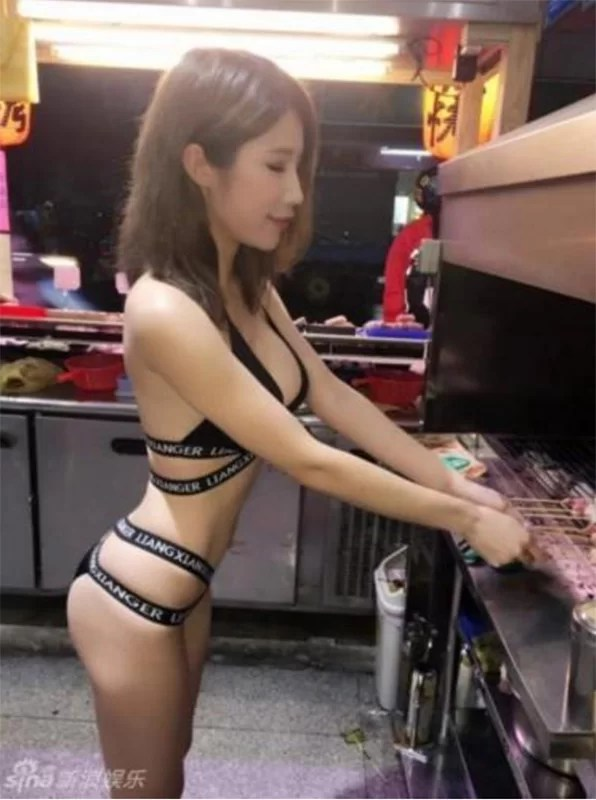 images of models at the Chinese BBQ