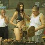 Sexy models in bikini in China