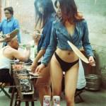Chinese models in bikini